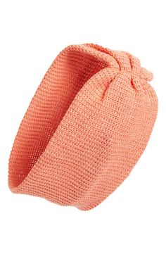 Back-to-school must-have! Coral cinched head wrap.