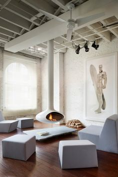 Chic loft styled living room