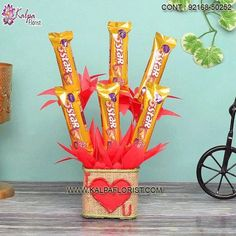 Chocolate For Valentine's: Send Valentine Special Chocolate For Valentine's to India. Buy Valentine's Day Special Chocolate Online From Kalpa Florist. Valentines Day Gifts Boyfriends, Boyfriend Gifts, Valentine Day Gifts, Chocolate Stars, Kiss Day, Valentine Special, Valentino, India, Make It Yourself