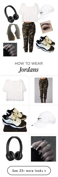 """""""Untitled #1"""" by prince-mackenziee on Polyvore featuring Beats by Dr. Dre, NIKE and MANGO"""