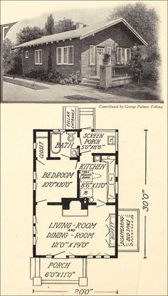1914 Cottage Bungalow that could work today -- 600 sq ft