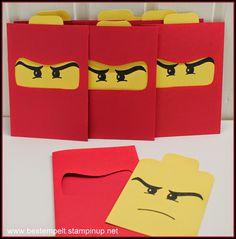 Lego Ninja Kindergeburtstag Einladungskarten selber machen *** DIY Lego Ninja…