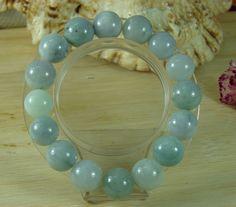 Lavender Jade Jadeite Bead Bangle Bracelet Natural Grade A Jade Emerald B-184-2
