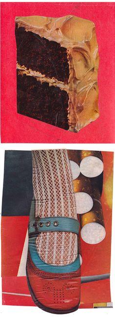 Johanna Goodman, found vintage image collage