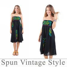 Welcome to Spun vintage style. We have lovingly made, hand embroidered clothes that woman love to wear :) Thank you for shopping by, please take your time and enjoy shopping. Mexican Bridesmaid Dresses, Wedding Black, Embroidered Clothes, Casual Shirts, Strapless Dress, Vintage Fashion, Street Style, Summer Dresses, Wedding Dresses