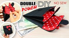 DIY MINI ACCORDION WALLET AWESOME DOUBLE POUCH TUTORIAL