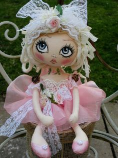 OOAK Handmade Art Rag Doll~India. Inspiration for doll making. Please choose cruelty free vegan materials and supplies