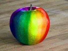 Colors are life, happiness Blessings and peace to all #Rainbow #Apple ☺❤