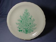 Vintage-Shenango-Christmas-Tree-Dinner-Plate