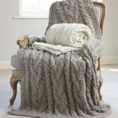 pretty grey throw
