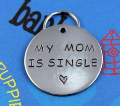 LARGE Dog Tag Nickel Silver  Personalized by critterbling on Etsy, $13.00 Presley totally needs one of these.