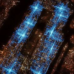 """New York City pizza delivery routes were tracked with GPS in this visualization from the """"Food Machine"""" episode of the PBS series America Revealed."""