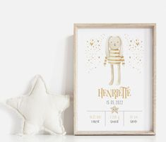 Personalisiertes Babyposter Gebutsposter Kinderzimmer Häschen Nursery Pictures, Baby Posters, Announcement, Birth, Bunny, Prints, Scrapbooking, Image, Boho