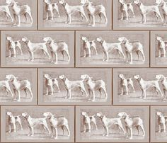 Calling The Hounds fabric by dogdaze_ on Spoonflower - custom fabric