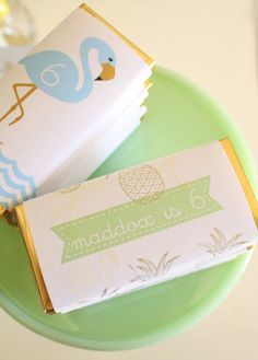 Love the packaging {Flamingo Party}