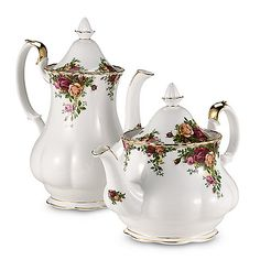 Royal Albert 42-Ounce Coffeepot in Old Country Roses Pattern.