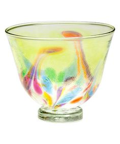Love this Pale Yellow Art Nouveau Glass Candle Bowl on #zulily! #zulilyfinds