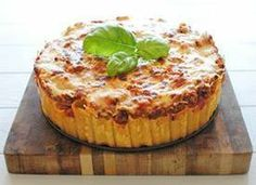Is it pasta? Is it a deep dish pizza pie? It's Pasta Pie, and it's being summoned to your belly right about now!