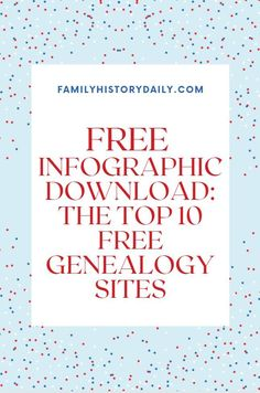 There are many free genealogy sites available to help you track down the information you need. Of course, only you can determine the best sites for your own family history research—but we thought it would be useful to share 10 of our favorites. Enjoy! Free Genealogy Sites, Free Infographic, Best Sites, Family History, Things To Think About, Life Hacks, Thoughts, Genetics, Track