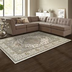 Found it at Wayfair - Glendale Olive Green/Gray/Ivory Area Rug