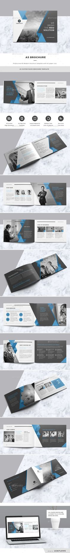 A5 Brochure — InDesign INDD #corporate #indesign • Available here → https://graphicriver.net/item/a5-brochure/18238301?ref=pxcr