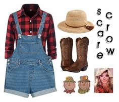 """""""DIY Scarecrow"""" by charlotte-elizabeth-02 ❤ liked on Polyvore featuring Monki, J.Crew and Ariat"""