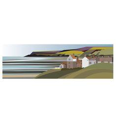 baytown to Ravenscar Landscape Tattoo, Landscape Drawings, Landscape Illustration, Watercolor Landscape, Abstract Landscape, Garden Landscape Design, City Landscape, Fantasy Landscape, Winter Landscape