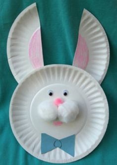 Small paper plate Easter bunny