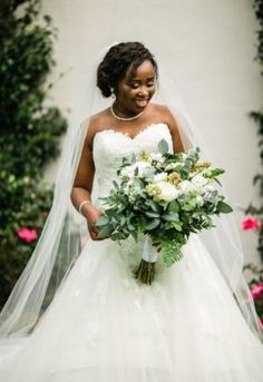 A stunning combination of black, green & gold – with pop of blush, worked so well . April Wedding, Flower Decorations, Green And Gold, Nostalgia, Blush, Seasons, Couples, Wedding Dresses, Natural
