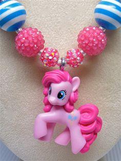 Pinkie Pie chunky bubblegum necklace!