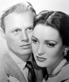 Richard Widmark and Linda Darnell in Slattery's Hurricane, 1949