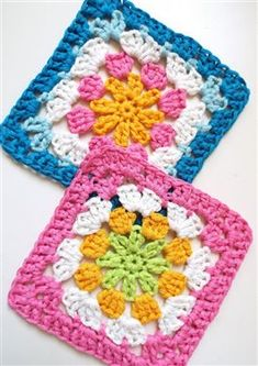 Introduction An easy pattern for two (2) Daisy Granny SquaresMake it with any mercerized cotton, merino wool or bamboo yarn.You can use this daisy granny for your blankets, cushion covers or bag making.Use bright and bold OR subtle and cute colours – use two (2), three(3) or more colours. DAISYGRANNYsquareFREEPATTERN PATTERN DETAILS: DIFFICULTY: Easy MEASUREMENT:Rowansquare…