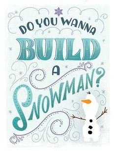 Do You Wanna Build a Snowman? by Shauna Lynn Panczyszyn, via Behance