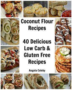 40 coconut flour recipes www.divaliciousrecipes.com