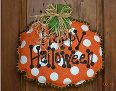 Burlap Door Hanger for Fall