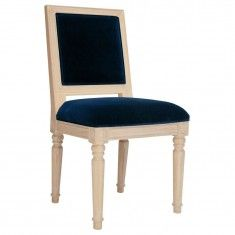 Worlds Away Scarsdale Chair - Navy