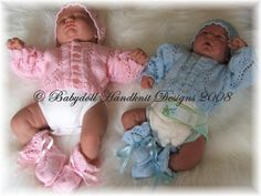 Premature Baby Cardigan, Hat and Bootees Set# Free # knitting pattern link here
