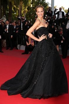 black dress with sparkle!