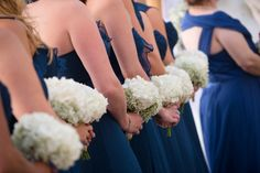 White Hydrangea and Baby's Breath Bouquets | By Andrea Layne Floral Design | Photo Credit: Aaron Lockwood Photography