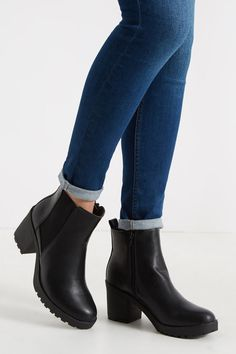 They're the boots that totally nail the 'cool and clever' brief, thanks to their cleated sole and seriously comfortable low heel.