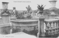 Fonte de Cupido no parque do Pasatempo en Betanzos no primeiro tercio do século XX, antes de ser arrasado na guerra civil