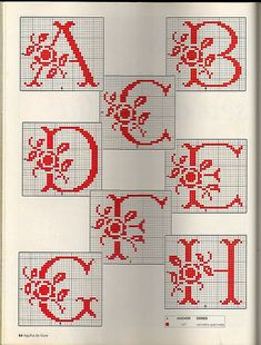 ponto cruz - monogramas