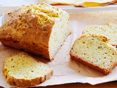 A slice of this simple, beer-spiked Quick Bread comes with the savory notes of grated smoked Gouda, chopped fresh thyme, ground mustard and a pinch of cayenne baked right in.