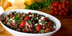 This lentil salad is a winner in so many ways. It takes a little bit of effort to chop all of those fresh veggies and herbs, but once you're done, you've g