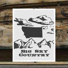 Big sky country! Montana wall art from #Etsy