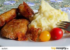 Loštický řízek recept - TopRecepty.cz Tandoori Chicken, Chicken Wings, Pork, Food And Drink, Treats, Ethnic Recipes, Sweet, Kale Stir Fry, Sweet Like Candy