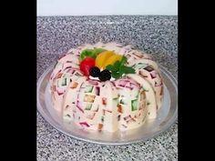 Gelatina de Fresas con Crema. - YouTube