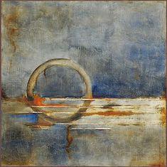 Saatchi Online Artist: Melinda Hannigan; Dude Likes Blue, Artist Study, circles , Art Featuring Circles, Inspiration for CAPI Students at milliande.com , circles, kreis, symbology , metaphor, emotion, idea
