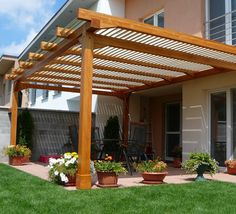 The pergola you choose will probably set the tone for your outdoor living space, so you will want to choose a pergola that matches your personal style as closely as possible. The style and design of your PerGola are based on personal Diy Pergola, Rustic Pergola, Building A Pergola, Outdoor Pergola, Pergola Lighting, Wood Pergola, Deck Gazebo, Modern Pergola, Cheap Pergola