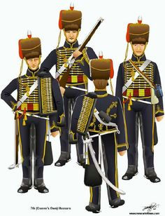 The Battle of Waterloo 18th June 1815 - 7th (Queen's Own) Hussars.